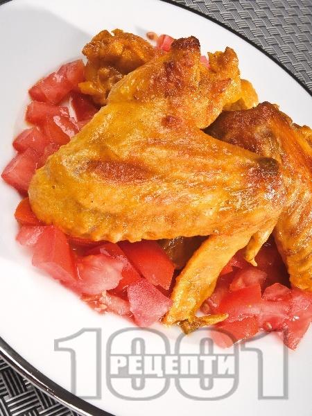 Мариновани пилешки крилца на фурна - снимка на рецептата